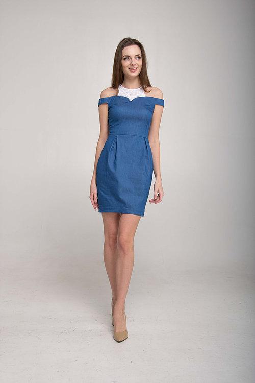 Платье футляр со вставкой