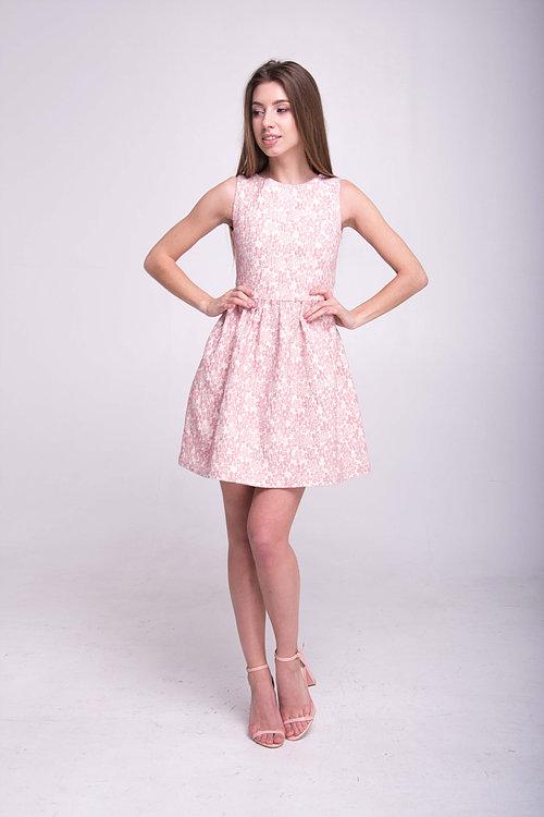 Платье короткое с открытой спинкой