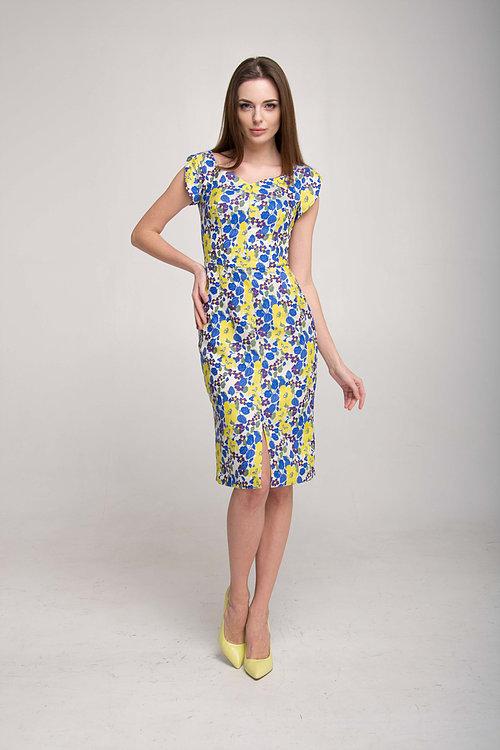 Платье футляр с разрезом спереди
