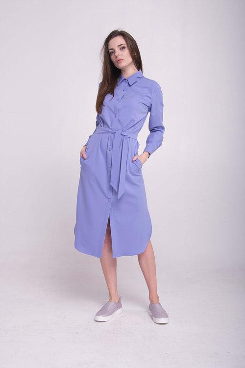 Платье-рубашка удлиненная