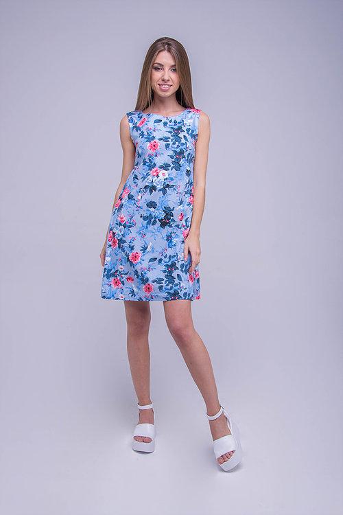 Платье льляное