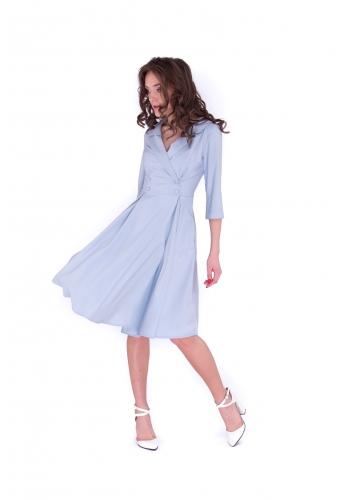 Платье двубортное